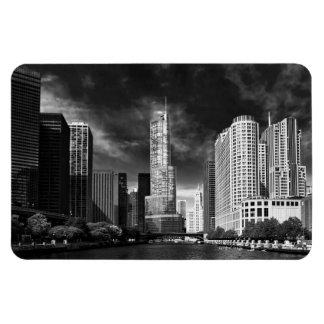 Ciudad - Chicago IL - torre BW del triunfo Imanes