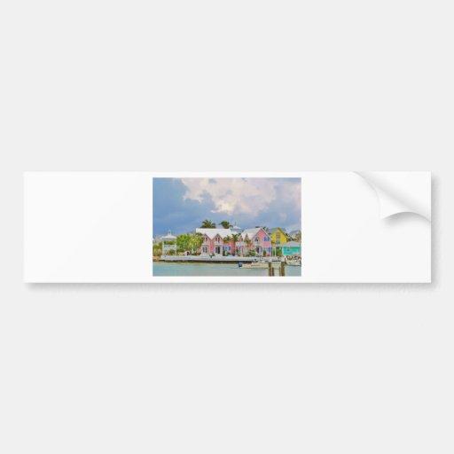 Ciudad colorida de la esperanza, Bahamas Pegatina Para Auto