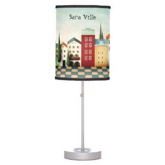Ciudad colorida del juguete del personalizar lámpara de mesa