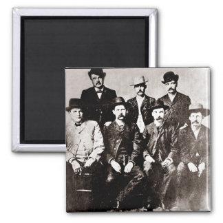 """Ciudad """"Comisión de Dodge de la paz"""" circa 1883 Imán Cuadrado"""