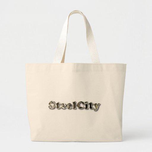 Ciudad de acero bolsas de mano