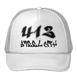 Ciudad de acero del representante (412) gorro de camionero