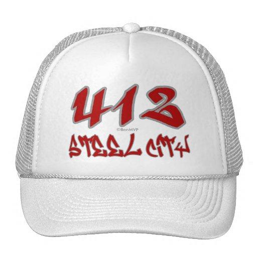 Ciudad de acero del representante (412) gorras de camionero