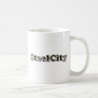 Ciudad de acero tazas de café
