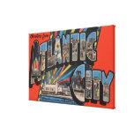 Ciudad de Altantic, New Jersey - letra grande Impresión En Lienzo