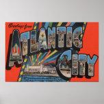 Ciudad de Altantic, New Jersey - letra grande Póster