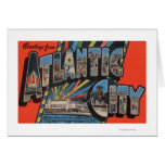 Ciudad de Altantic, New Jersey - letra grande Tarjeta De Felicitación