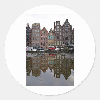 Ciudad de Amsterdam Pegatina Redonda