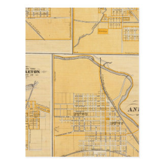 Ciudad de Anderson con Frankton Tarjeta Postal