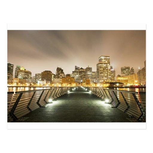 Ciudad de ángulos tarjeta postal