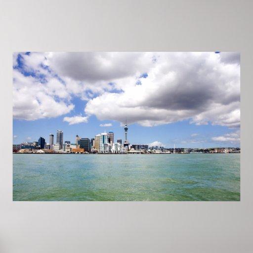 Ciudad de Auckland, Nueva Zelanda de Matthew Jones Póster