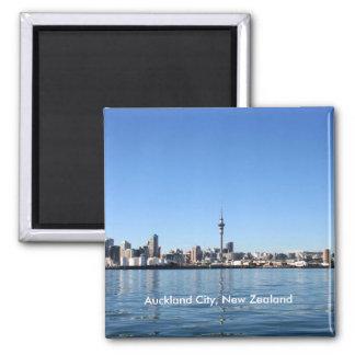 Ciudad de Auckland, Nueva Zelanda Imán Cuadrado