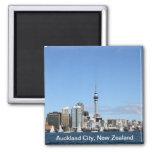 Ciudad de Auckland, Nueva Zelanda por día Imán Cuadrado