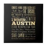 Ciudad de Austin del arte de la tipografía del est Tejas Cerámicas