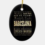 Ciudad de Barcelona del arte de la tipografía de Adorno Navideño Ovalado De Cerámica