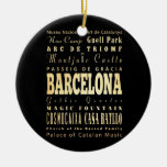 Ciudad de Barcelona del arte de la tipografía de Adorno Redondo De Cerámica