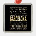 Ciudad de Barcelona del arte de la tipografía de E Ornamento Para Arbol De Navidad