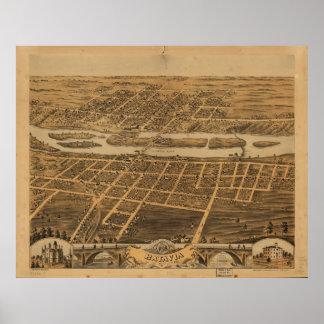 Ciudad de Batavia el condado de Kane Illinois Póster