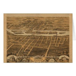 Ciudad de Batavia el condado de Kane Illinois Tarjeta De Felicitación