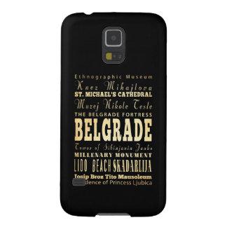 Ciudad de Belgrado del arte de la tipografía de Carcasa De Galaxy S5