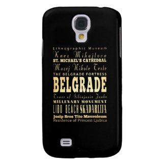 Ciudad de Belgrado del arte de la tipografía de Se Funda Para Galaxy S4