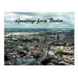 ciudad de Berlín Tarjeta Postal