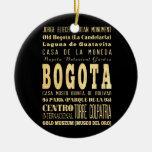 Ciudad de Bogotá del arte de la tipografía de Adorno Navideño Redondo De Cerámica
