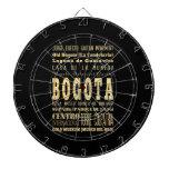 Ciudad de Bogotá del arte de la tipografía de Colo Tablero Dardos