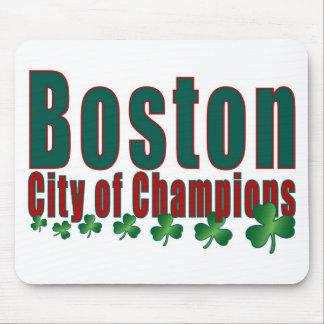 Ciudad de Boston de campeones Alfombrillas De Ratones