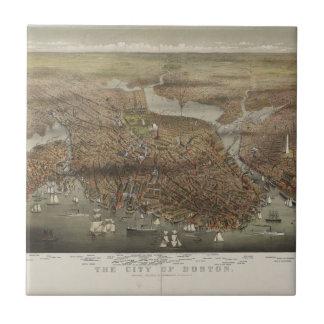 Ciudad de Boston Massachusetts 1873 Azulejos Cerámicos