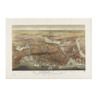 Ciudad de Boston Massachusetts 1873 Impresiones De Lienzo