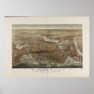 Ciudad de Boston Massachusetts 1873 Posters