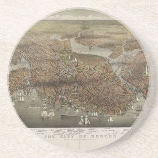 Ciudad de Boston Massachusetts 1873 Posavasos Personalizados