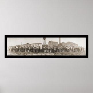 Ciudad de Boyne, foto que broncea 1913 del MI Póster
