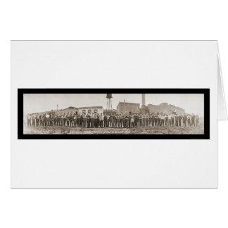 Ciudad de Boyne, foto que broncea 1913 del MI Tarjeta De Felicitación