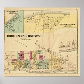 Ciudad de Bridgewater con Shippingport Impresiones