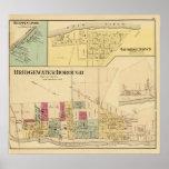 Ciudad de Bridgewater con Shippingport Póster