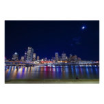 Ciudad de Brisbane en la noche Poster