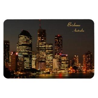 Ciudad de Brisbane, horizonte de la noche, Imán Rectangular