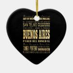 Ciudad de Buenos Aires del arte de la tipografía Adorno Navideño De Cerámica En Forma De Corazón