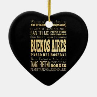 Ciudad de Buenos Aires del arte de la tipografía Adorno De Cerámica En Forma De Corazón
