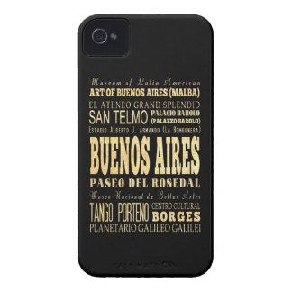 Ciudad de Buenos Aires del arte de la tipografía iPhone 4 Carcasas