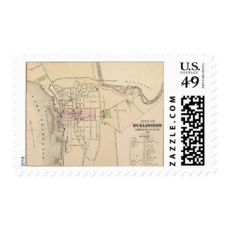 Ciudad de Burlington en Vermont Timbres Postales