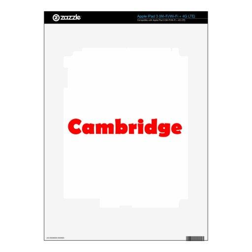 Ciudad de Cambridge de Inglaterra Pegatina Skin Para iPad 3