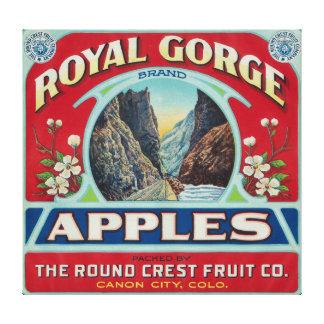 Ciudad de Canon, Colorado - la garganta real Apple Impresion De Lienzo