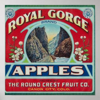 Ciudad de Canon, Colorado - la garganta real Apple Póster