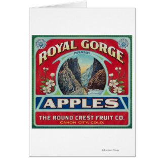 Ciudad de Canon, Colorado - la garganta real Apple Tarjeta De Felicitación