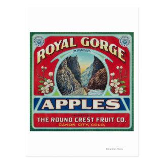 Ciudad de Canon, Colorado - la garganta real Apple Tarjetas Postales