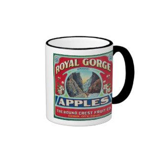 Ciudad de Canon, Colorado - la garganta real Apple Taza De Dos Colores