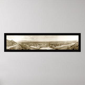 Ciudad de Canon, foto 1909 de Colorado Póster
